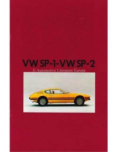 1973 VOLKSWAGEN SP-1 / SP-2 BROCHURE ENGLISH / SPANISH