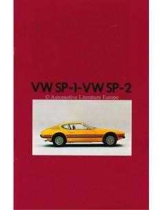 1973 VOLKSWAGEN SP-1 / SP-2 PROSPEKT ENGLISCH / SPANISCH