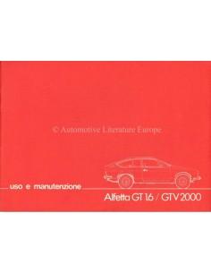 1980 ALFA ROMEO ALFETTA GT 1.6 / GTV 2000 BETRIEBSANLEITUNG ITALIENISCH