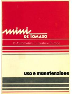 1977 INNOCENTI MINI DE TOMASO OWNERS MANUAL ITALIAN