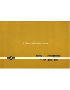 1965 GLAS 1700 BROCHURE ITALIAN
