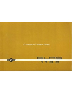 1965 GLAS 1700 PROSPEKT ITALIENISCH