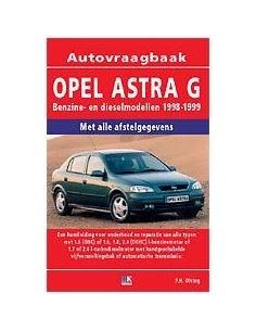 1997 - 1998 OPEL ASTRA G WORKSHOP MANUAL DUTCH
