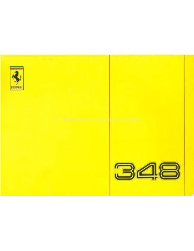 1989 FERRARI 348 TB INSTRUCTIEBOEKJE 564/89