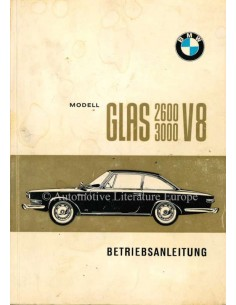 1967 GLAS 2600 / 3000 V8 OWNERS MANUAL GERMAN