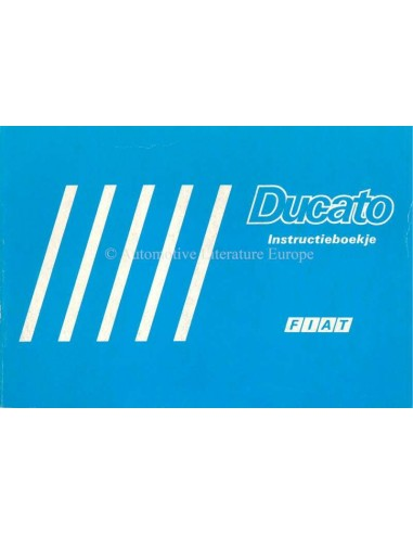 1986 FIAT DUCATO INSTRUCTIEBOEKJE NEDERLANDS