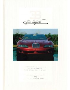 1993 EB ETTORE BUGATTI HARDBACK MAGAZINE 4 ENGLISH