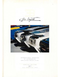 1994 EB ETTORE BUGATTI HARDBACK MAGAZINE 7 ENGLISH