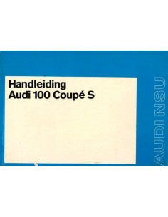 1973 AUDI 100 COUPE S OWNERS MANUAL DUTCH