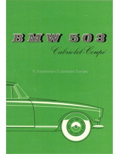 1957 BMW 503 CABRIOLET - COUPE BROCHURE ENGELS