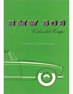 1957 BMW 503 CABRIOLET - COUPE PROSPEKT ENGLISCH