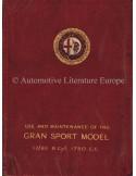 1928 ALFA ROMEO 1750 GRAN SPORT 6C 17/95 OWNERS MANUAL ENGLISH