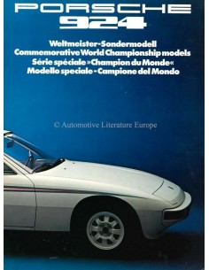 1976 PORSCHE 924 COMMEMORATIVE WORLD CHAMPIONSHIP MODELS BROCHURE