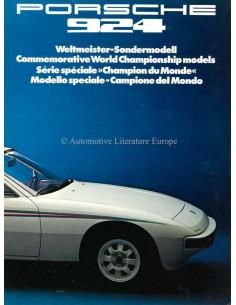 1976 PORSCHE 924 WELTMEISTER SONDERMODELL PROSPEKT
