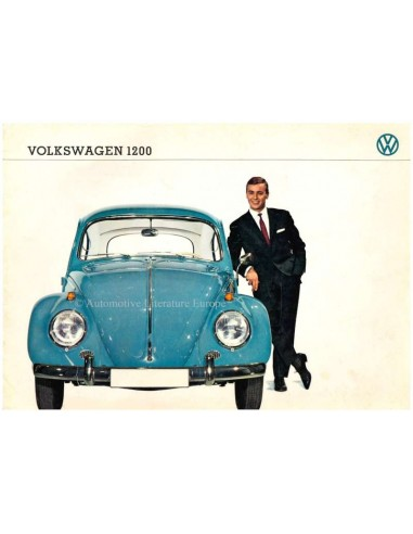 1963 VOLKSWAGEN BEETLE 1200 BROCHURE GERMAN