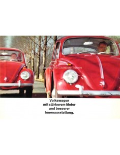 1965 VOLKSWAGEN BEETLE BROCHURE GERMAN