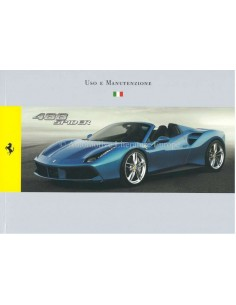 2015 FERRARI 488 SPIDER OWNERS MANUAL ITALIAN