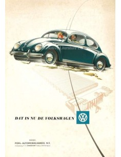 1954 VOLKSWAGEN BEETLE BROCHURE DUTCH