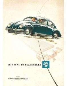 1954 VOLKSWAGEN BEETLE BROCHURE DUTCH