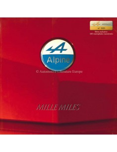 1989 ALPINE V6 TURBO MILLE MILES BROCHURE FRENCH
