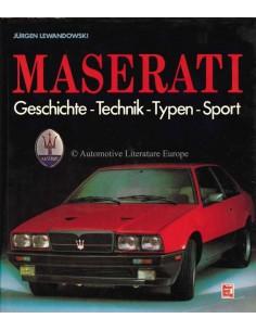 1988 MASERATI GESCHIEDENIS - TECHNIEK - TYPE - SPORT - BOEK