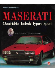 1988 MASERATI HISTORY - TECHNIC - TYPE - SPORT - BOOK