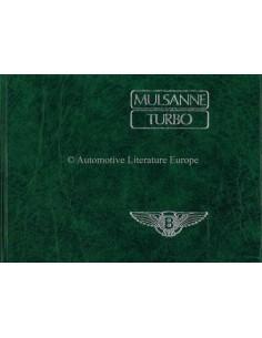 1983 BENTLEY MULSANNE / TURBO BETRIEBSANLEITUNG ENGLISCH