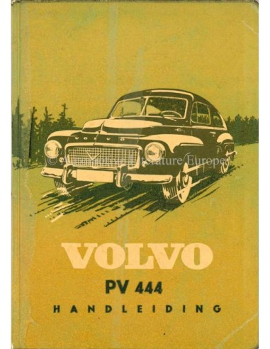 1957 VOLVO PV 444 OWNERS MANUAL DUTCH