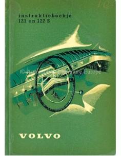 1961 VOLVO 121 / 122 S BETRIEBSANLEITUNG NIEDERLÄNDISCH