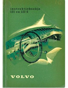 1961 VOLVO 121 / 122 S OWNERS MANUAL DUTCH