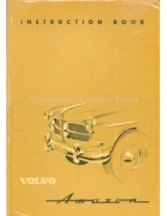 1958 VOLVO AMAZON OWNERS MANUAL ENGLISH