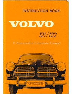 1963 VOLVO 121 / 122 OWNERS MANUAL ENGLISH