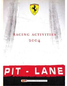 2004 FERRARI RACING ACTIVITIES YEARBBOOK ITALIAN / ENGLISH