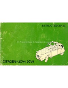 1977 CITROEN 2CV4 & 2CV6 OWNERS MANUAL DUTCH