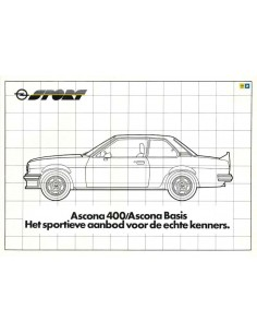 1981 OPEL ASCONA 400 / 400 BASIS BROCHURE DUTCH
