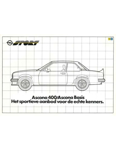 1981 OPEL ASCONA 400 / 400 BASIS BROCHURE DUTCH