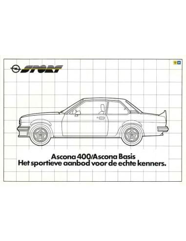 1981 OPEL ASCONA 400 / 400 BASIS PROSPEKT NIEDERLÄNDISCH