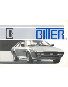 1980 BITTER SC COUPE BROCHURE ENGLISH
