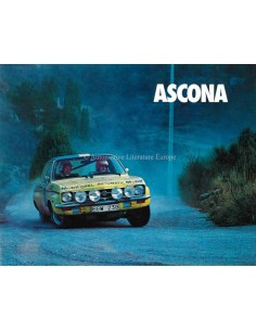 1974 OPEL ASCONA BROCHURE DUTCH