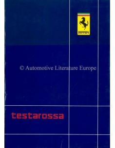 1986 FERRARI TESTAROSSA INSTRUCTIEBOEKJE 456/86