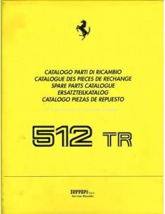 1992 FERRARI 512 TR SPARE PARTS CATALOG 708/92
