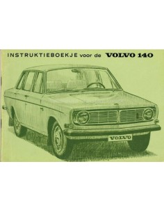 1970 VOLVO 140 BETRIEBSANLEITUNG NIEDERLÄNDISCH