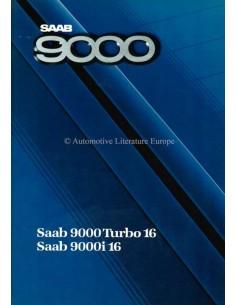 1987 SAAB 9000 BROCHURE FRENCH