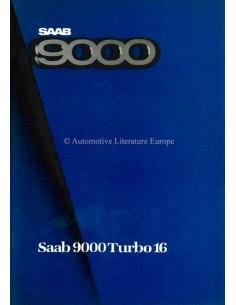 1985 SAAB 9000 TURBO 16 BROCHURE DUTCH