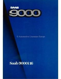 1985 SAAB 9000I 16 BROCHURE GERMAN