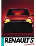 1985 RENAULT 5 PROSPEKT FRANZÖSISCH