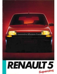 1985 RENAULT 5 BROCHURE FRENCH