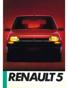 1985 RENAULT 5 BROCHURE GERMAN
