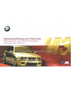 2000 BMW M3 COUPE OWNERS MANUAL GERMAN