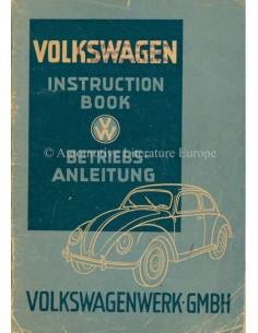 1948 VOLKSWAGEN TYP 11 BETRIEBSANLEITUNG ENGLISCH